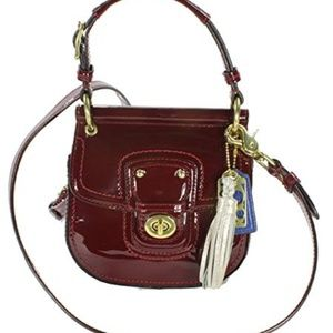 Coach Willis Patent In Crimson (Deep Red) Leather